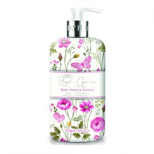 Royale Garden Rose, Poppy & Vanilla kätepesuseep 500ml