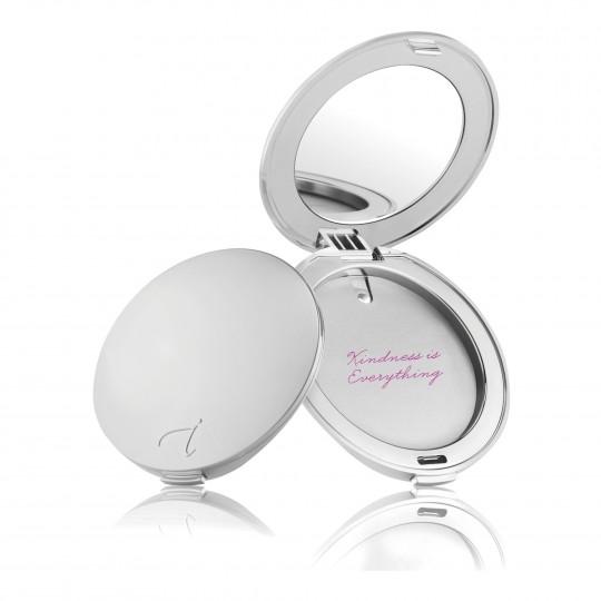 Tühi peegliga karp presspuudrile Silver