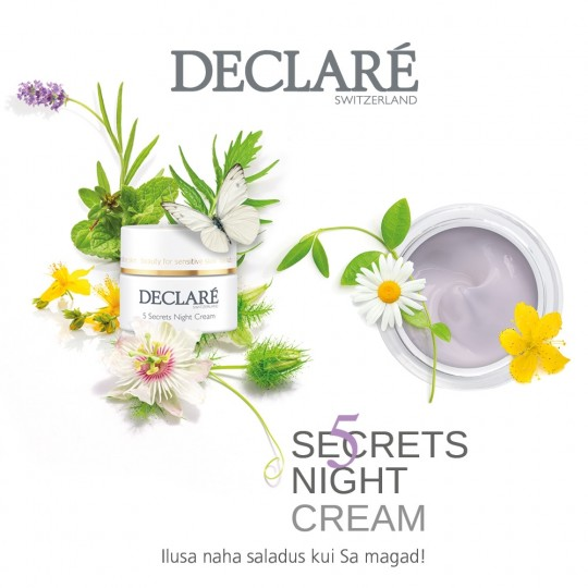 5 Secrets Night Cream – ilusa naha saladus kui Sa magad!