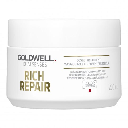 Dualsenses Rich Repair 60 Sec Treatment taastav mask kuivadele ja kahjustunud juustele 200ml