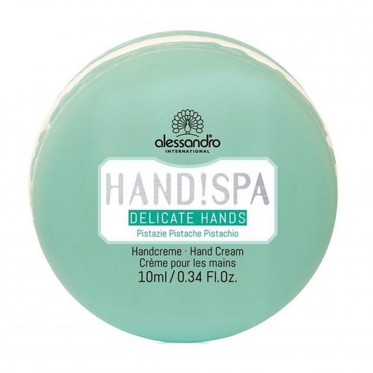 "Delicate Hands Pistachio Cream rikkalik niisutav ja noorendav kätekreem ""Pistaatsia makroon"" 10ml"