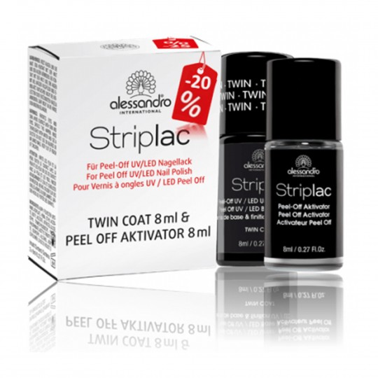 Striplac duo set Twin Coat + Peel-off Activator