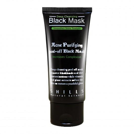 Süvapuhastav must mask aktiivsöega 50ml