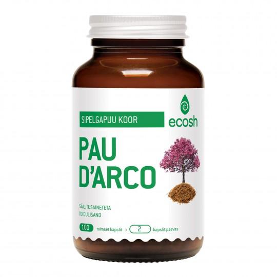 Pau D' Arco sipelgapuukoor 100 kapslit