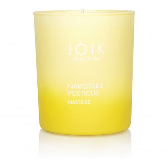 Rapsivahast lõhnaküünal Nartsiss värvilises klaasis 150g