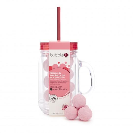 Kihisevate vannipallide kokteilipurk Hibiskus&Assai mari 300 g