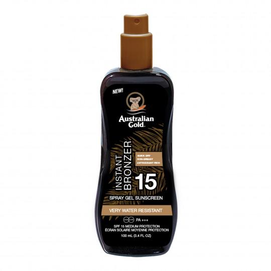 Spray Gel With Bronzer pruunistav päevitusgeel SPF15 100ml