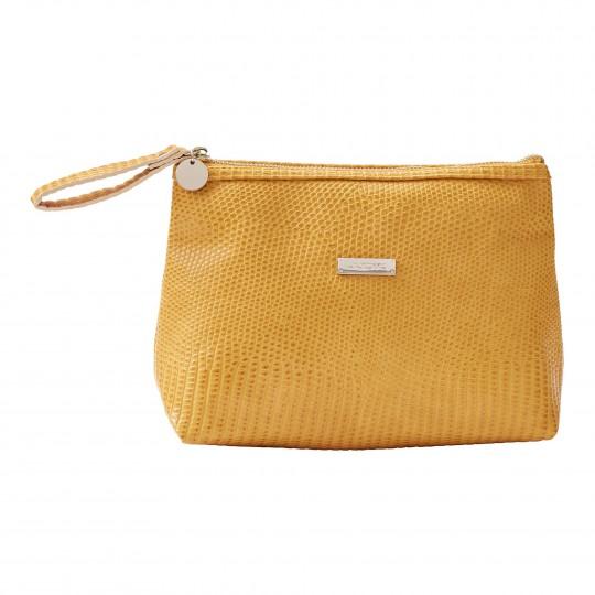 Kosmeetikakott Chebbi Bag Desert Yellow Nile Croco
