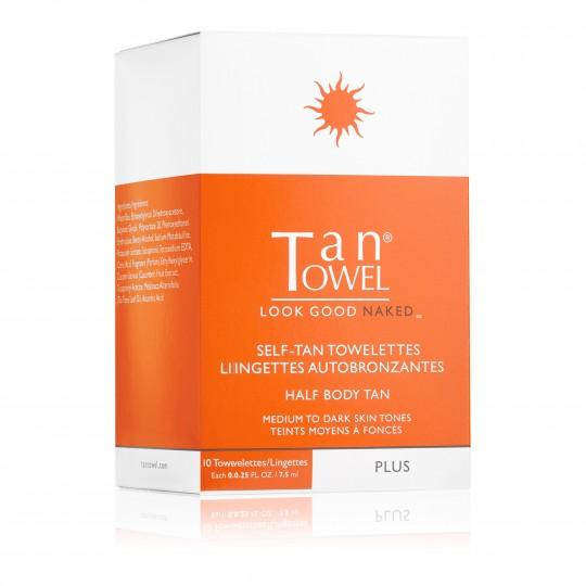 TanTowel Plus isepruunistajaga salvrätikud kehale 10tk