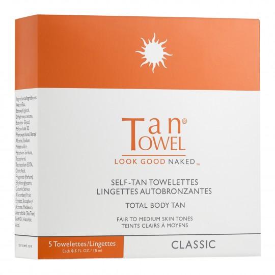 TanTowel Classic isepruunistajaga salvrätikud kogu kehale 5tk