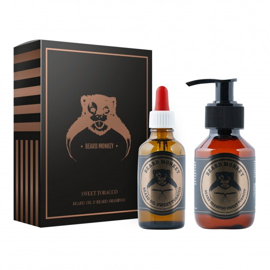 Sweet Tobacco komplekt - habeme šampoon 100ml ja habemeõli 50ml