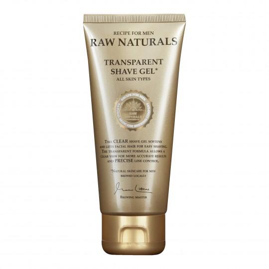 RAW Naturals läbipaistev habemeajamisgeel 100ml