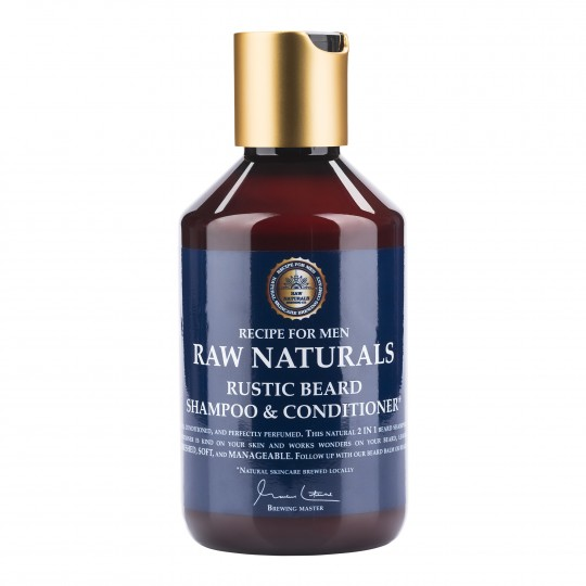 Raw Naturals šampoon ja palsam habemele 250ml