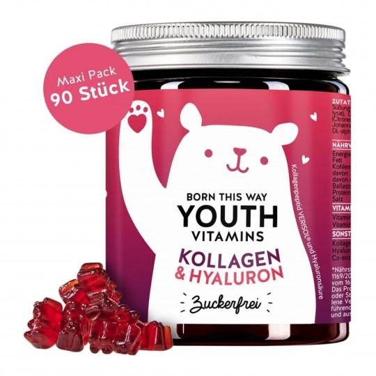 Youth Vitamins kummikarud kollageeni ja hüaluroonhappega 90tk