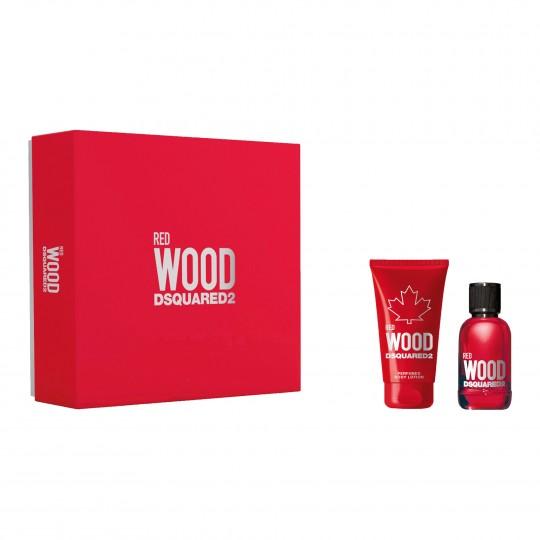 Dsquared2 Red Wood Pour Femme EdT kinkekomplekt