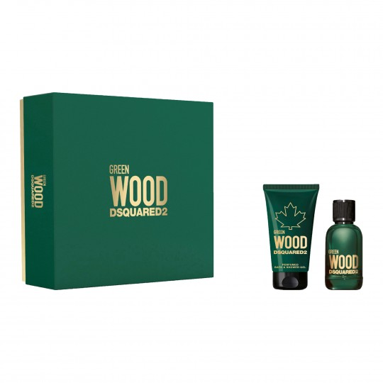 Dsquared2 Green Wood Pour Homme EdT kinkekomplekt