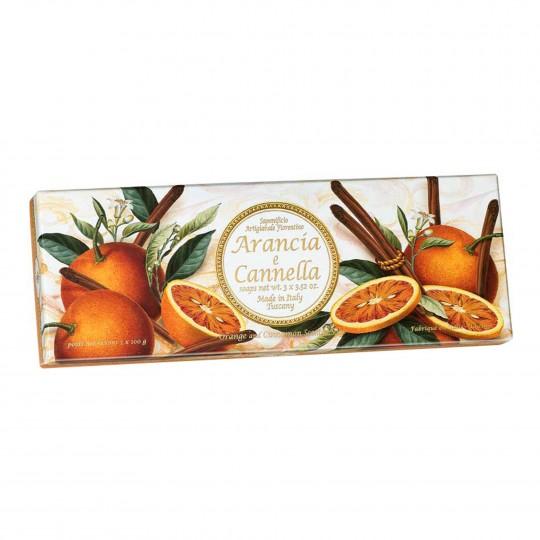Seepide komplekt Taormina apelsin ja kaneel 3x100g