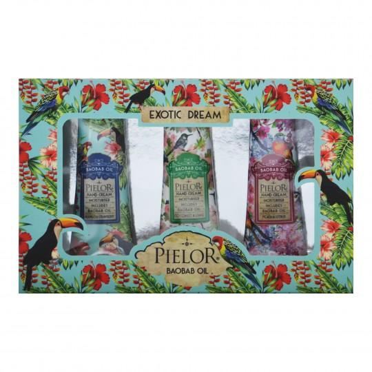 Kinkekomplekt Exotic Dream Kätekreemid 3tk Turquoise Box
