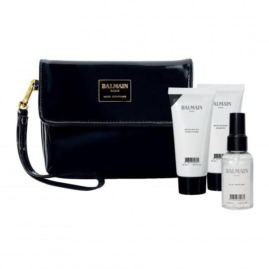 Cosmetic Care Bag small Black Patent kosmeetikakott hooldustoodetega väike must