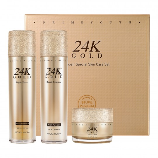 Komplekt näohooldustoodetega Prime Youth 24K Gold Repair 295ml