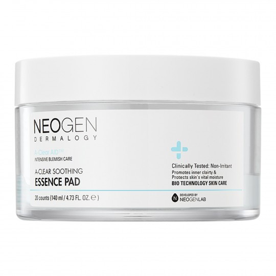 Immutatud toniseerivad padjakesed Neogen Dermalogy A-Clear Soothing Essence Pad 140ml