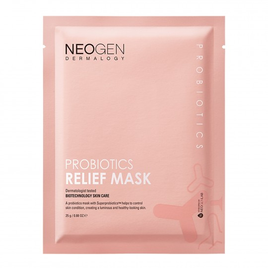 Näomaskide komplekt Neogen Dermalogy Probiotics Relief Mask (5 tk) 125g
