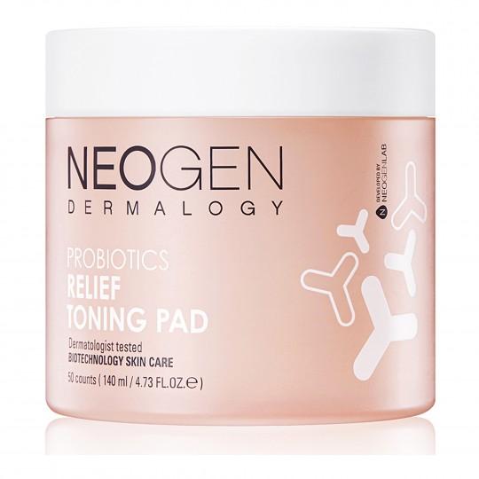 Immutatud toniseerivad padjakesed Neogen Dermalogy Probiotics Relief Toning Pad 140ml