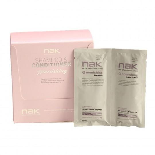 Nourishing DUO Juukseid taastav šampooni ja palsami reisikomplekt 10x30ml